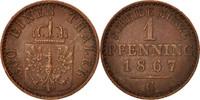 Pfennig 1867 C Deutsch Staaten Wilhelm I A...