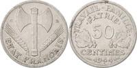 50 Centimes 1944 C Frankreich Bazor, Caste...