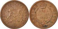 2 Centimes 1850 Haiti SS, Copper, KM:36 SS