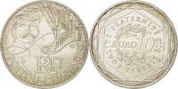 10 Euro 2012 (a) Frankreich UNZ+, Silber, ...
