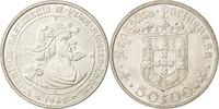 50 Escudos 1968 Portugal VZ, Silber, KM:59...