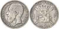 Franc 1886 Belgien Leopold II, S+, Silber,...