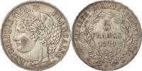 5 Francs 1849 BB Frankreich Cérès, Strasbo...