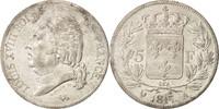 5 Francs 1817 A Frankreich Louis XVIII, Pa...