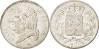 5 Francs 1821 W Frankreich Louis XVIII, Li...