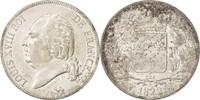 5 Francs 1822 W Frankreich Louis XVIII, Li...