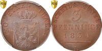 3 Pfennig 1834 D Deutsch Staaten PRUSSIA, ...