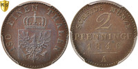 2 Pfennig 1846 A Deutsch Staaten PRUSSIA, ...