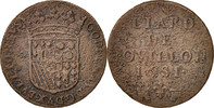 Liard 1681 Bouill FRENCH STATES  VF(20-25)