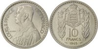 10 Francs 1945 Monaco  AU(55-58)  80,00 EUR  zzgl. 10,00 EUR Versand