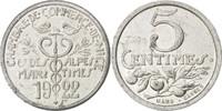 5 Centimes 1922 Frankreich France, Alumini...