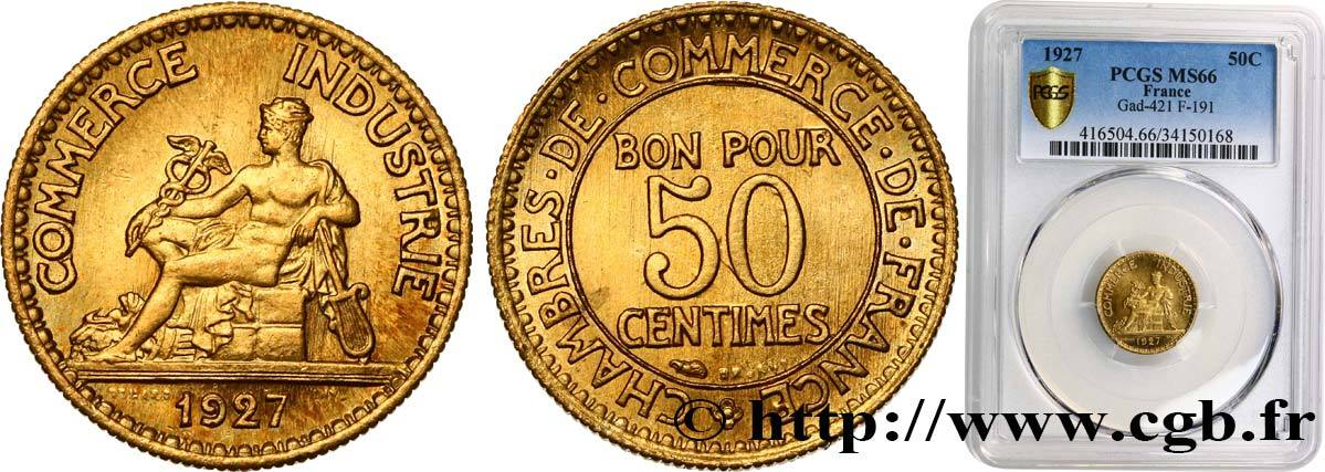 50 centimes chambres de commerce 1927 france iii republic for Chambre de commerce nice