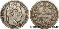 5 francs IIe type Domard 1839  LOUIS-PHILI...