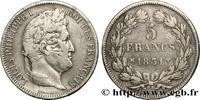 5 francs Ier type Domard, tranche en cre 1...