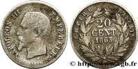 20 centimes Napoléon III, tête nue 1863  S...