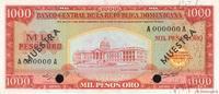 1000 Pesos Oro 1964 RÉPUBLIQUE DOMINICAINE...