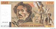 100 Francs DELACROIX modifié 1978 FRANCE F...