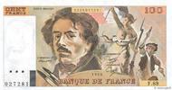 100 Francs DELACROIX modifié 1984 FRANCE F...