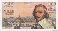 1000 Francs RICHELIEU 1955 FRANCE FRANCE 1...