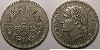 1938 5 Francs France, Lavrillier nickel, ...