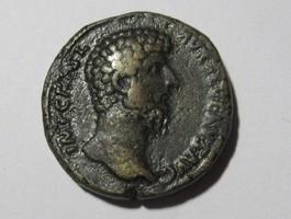 Sesterz 162 n. Chr. Rom Sesterz von LUCIUS VERUS    Rs. Lucius Verus mit Marc Aurel stehend sehr schön