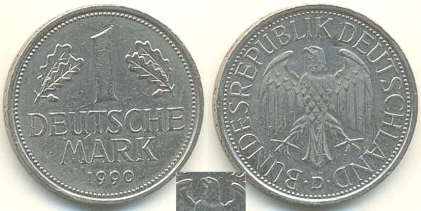 1 Deutsche Mark Dm 1990 D Deutschland