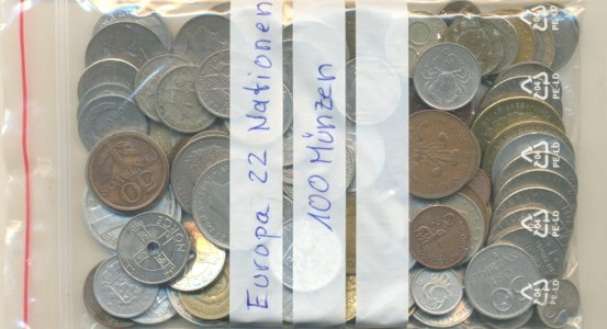 Europa Lot With 100 Coins From 22 European Nations Before Euro
