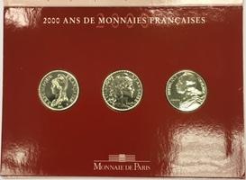 15 F 2000 FRANCE Coffret BU 2000 spécial : 3 x 5 F Lagriffoul, Chapelain et Liberté Unz