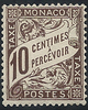 10 c  MONACO 10 c brun, le timbre-taxe le ...