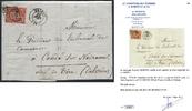 1 F 1849 FRANCE 1 F vermillon VIF oblitéré...