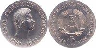 10 Mark Silber 1966 DDR Karl Friedrich Sch...