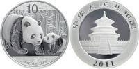 10 Yuan Silberunze 2011 China Pandabär Ste...
