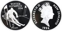 5 Dollars Silber 1994 Neuseeland Olympiade...