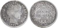 1 Dime Silber 1897 U.S.A. Barber Dime sehr schön, schöne Patina  13,00 EUR  +  6,00 EUR shipping