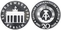 20 Mark Silber 1990 DDR Brandenburger Tor PP-, minimal berührt  59,00 EUR  +  10,00 EUR shipping