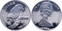 1 Dollar Silber 1984 Neuseeland Vogel, Black Robin PP Proof  22,00 EUR  +  6,00 EUR shipping