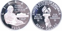 1/2 Dollar Silber 1993 U.S.A. James Madison PP Proof in Originalkapsel  11,00 EUR  +  6,00 EUR shipping