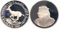5 Dinars Silber 1986 Bahrain 25 Jahre WWF,...