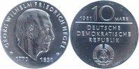 10 Mark Silber 1981 DDR Friedrich Hegel fast stempelglanz  26,00 EUR  +  6,00 EUR shipping