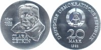 20 Mark 1982 DDR Clara Zetkin Stempelglanz
