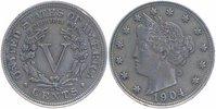 5 Cents 1904 U.S.A.  sehr schön-vorzüglich