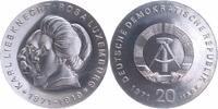 20 Mark Silber 1971 DDR Liebknecht Luxembu...
