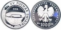 1000 Zlotych Silber 1994 Polen Fußball-WM 1994 PP - Proof in Kapsel  38,00 EUR  +  6,00 EUR shipping