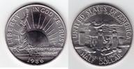 1/2 Dollar 1986 D U.S.A. Freiheitsstatue, Ellis Island Stempelglanz  4,00 EUR  +  6,00 EUR shipping