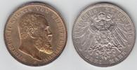 3 Mark 1908 F Württemberg Wilhelm 1891-1918 prägefrisch-tempelglanz  55,00 EUR  zzgl. 6,00 EUR Versand