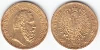 20 Mark GOLD 1872 F Württemberg Karl 1864-...