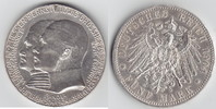 5 Mark 1904 Hessen zum 400. Geburtstag Randkerbe + kl. RF, sehr schön  99,00 EUR  +  10,00 EUR shipping