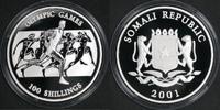 100 Shillings Silber 2001 Somalia Olympiad...