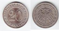 20 Pfennig 1892 G Kaiserreich  sehr schön  75,00 EUR  +  10,00 EUR shipping