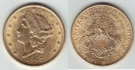 20 Dollars GOLD 1907 U.S.A. Double Eagle f...